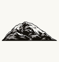 vintage concept mountain peak vector image