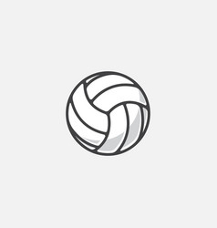 volleyball icon volleyball vector image