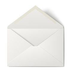 white opened envelope isolated on background vector image