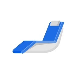 wooden beach chaise longue vector image