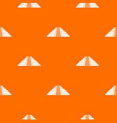 Ziggurat in chichen itza pattern seamless vector