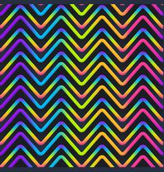 Zigzag neon geometric seamless pattern vector