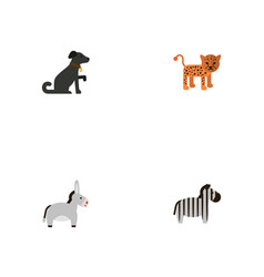 flat icons jackass hound horse and other vector image vector image