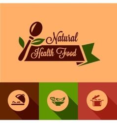 flat natural food design elements vector image vector image
