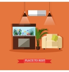place to rest home vector image
