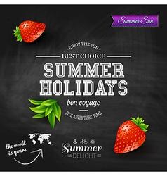 Summer design Poster for summer holidays vector image