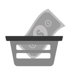 basket shopping bill money online vector image vector image