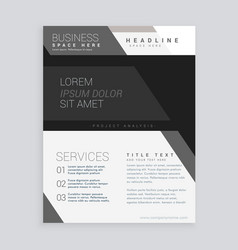 black business brochure design template vector image vector image