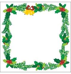 Christmas Ornaments Bells Frame Green vector image vector image