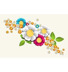 Colorful splash flower background vector image vector image