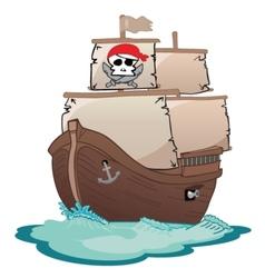 Corsair sailboat vector image