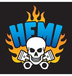 Hemi Skull and Pistons vector image vector image