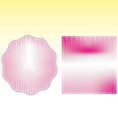 pink frame box wedding vector image vector image