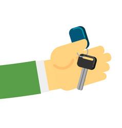 Rent or sale car dealer service conceptual icon vector