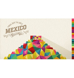 Travel Mexico landmark polygonal monument vector image vector image