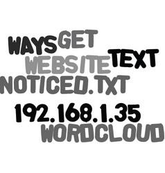 Ways to get your website noticed text word cloud vector