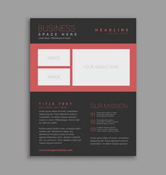 black brochure design template vector image