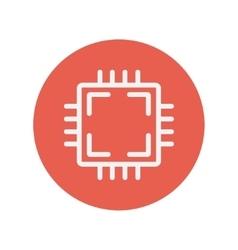 Circuit board thin line icon vector image