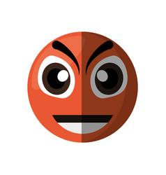 Evil emoticon cartoon design vector