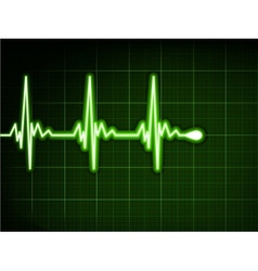 Green heart beat Ekg graph EPS 8 vector image