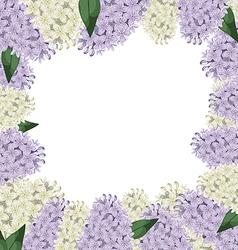 lilac border vector image vector image
