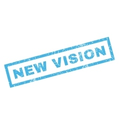 New Vision Rubber Stamp vector image vector image