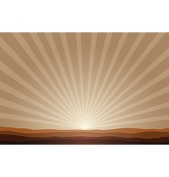 rising sun background vector image