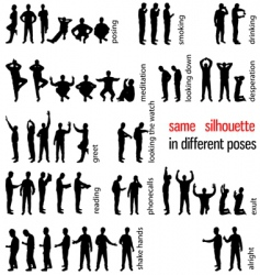 silhouettes set vector image vector image