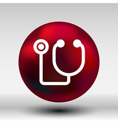 stethoscope icon on isolated background vector image vector image