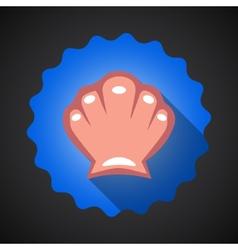 Summer Travel Sea Shell flat icon vector image vector image
