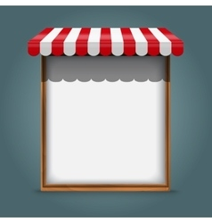white frame with red awning vector image