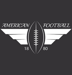 American football or rugby ball with wings sport vector image vector image