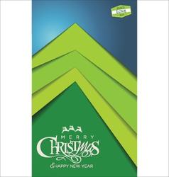 Christmas tree modern design vector image