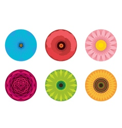 Circle Flowers Pattern vector image vector image