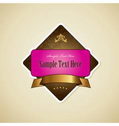 label with ribbon vector image