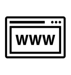 line website icon vector image vector image