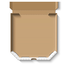 open empty cardboard pizza box vector image vector image