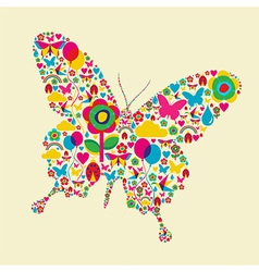 Spring time butterfly vector image vector image