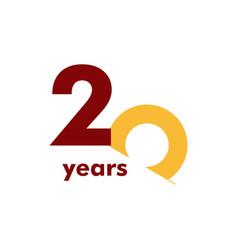 20 year anniversary elegant number template design vector