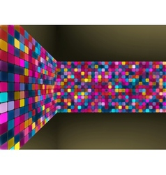 Abstract glowing mosaic background vector image
