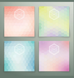 Abstract hexagon background set vector