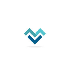 Abstract shape line triangle colored logo vector