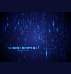 background with hexagonal molecules vector image