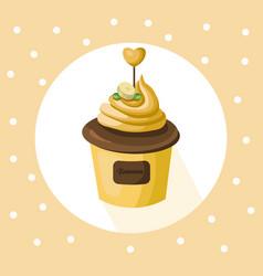 banana cupcake muffin dessert vector image