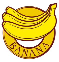 banana label vector image vector image