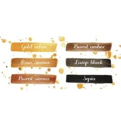 Beautiful dark watercolor elements for design vector image