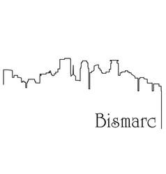 bismarck city one line drawing vector image