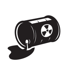 black radioactive waste icon vector image