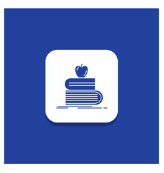 blue round button for back to school school vector image