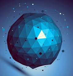 Blue spatial digital lattice backdrop dimensional vector